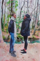 acrylique sur toile, 146x97.